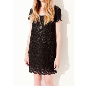 Aritzia Talula Fleetwood Lace Mini Dress Black